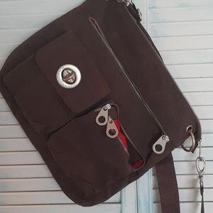 Chocolate and Red Baggallini Crossbody Bag